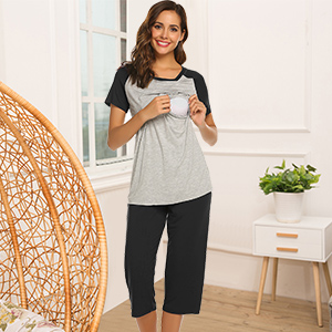 T-shirt Tops: Two-layer ruched design is super soft on skin, easy and discreet enough for nursing