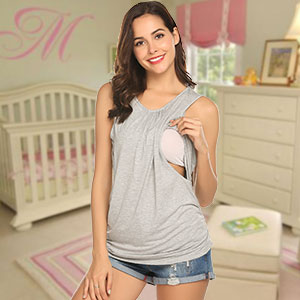maternity tan top for breastfeeding