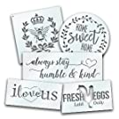 Home Decor Stencils - French Bee, Home Sweet Home Always Humble Kind Love Fresh Eggs Farmhouse