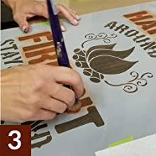 StudioR12 Stencil Painting Technique