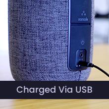 Charged Via USB
