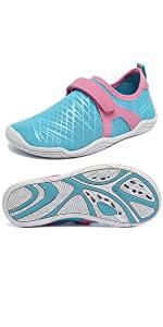 Boys & Girls Water Shoes Lightweight Comfort Sole Easy Walking Athletic Slip on Aqua Sock