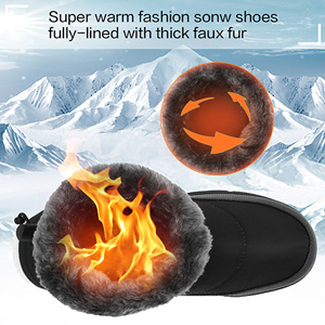 Men and Women's Waterproof Snow Boot Drawstring Cold Weather Boot