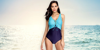 ruched swimsuit high waisted one piece bathing suit