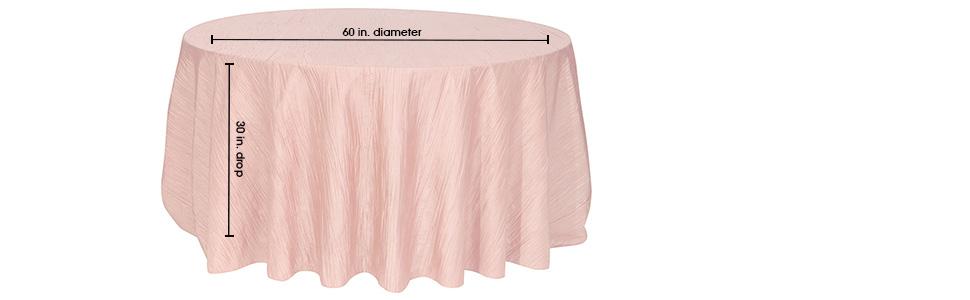 Round Crinkle Taffeta Tablecloths