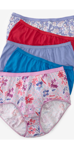 10 pack full cut brief cotton assorted colors patterns prints comfort choice