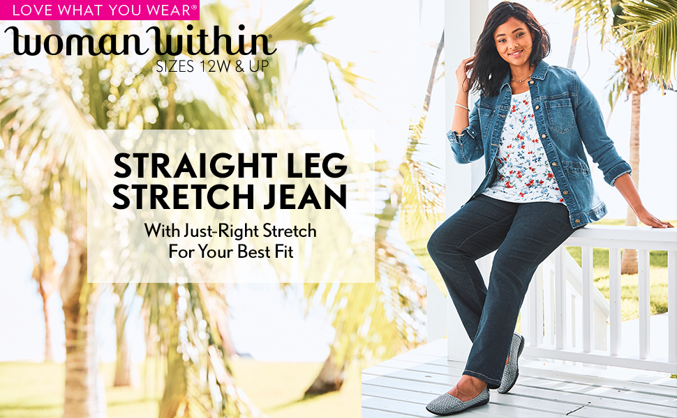 straight leg stretch jean denim pants slacks trousers comfortable casual business leggings