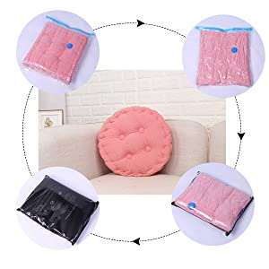 pink cotton cushion