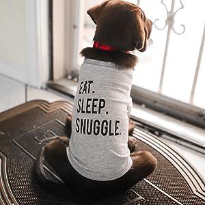 eat sleep snuggle dog tee