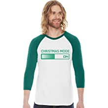 christmas mode on raglan mens