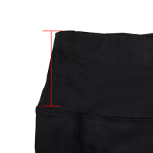 High rise waistband for tummy control.