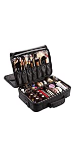 Lumcrissy Professional 3 layer Makeup Train Case