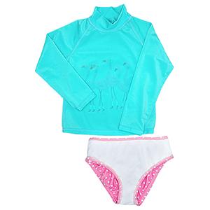 Kids Rash Guard 2Pcs Swimsuit Set