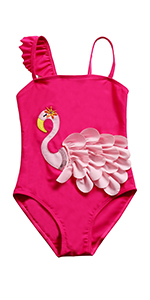 Swan One Piece Swimsuits
