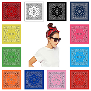 Varieties Color and Style Soft Comfy Bandanas