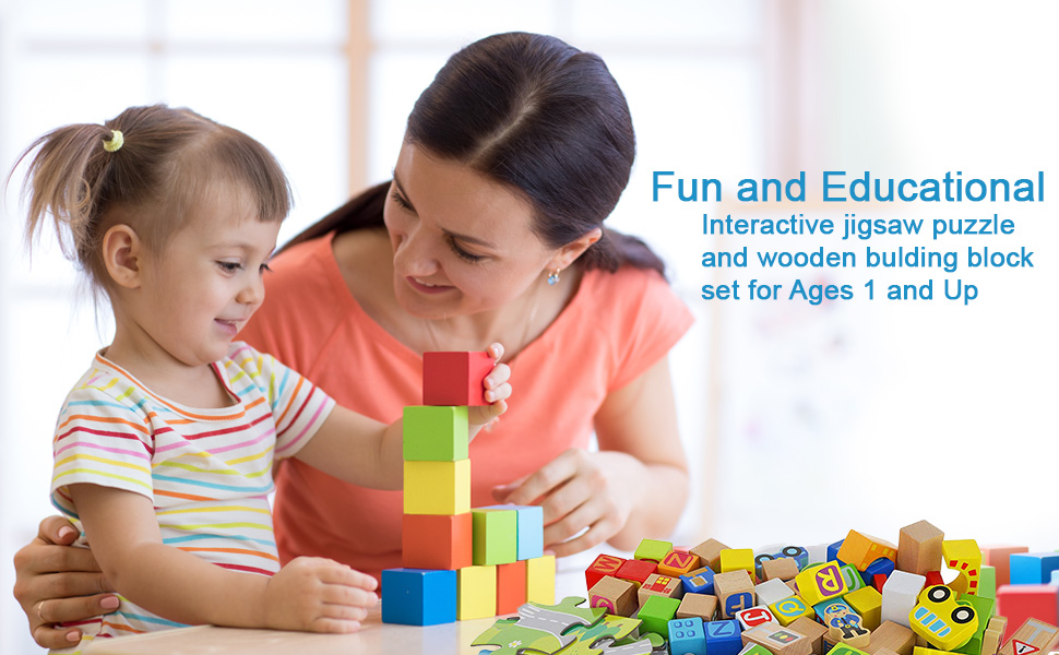Wooden Jigsaw puzzle playset