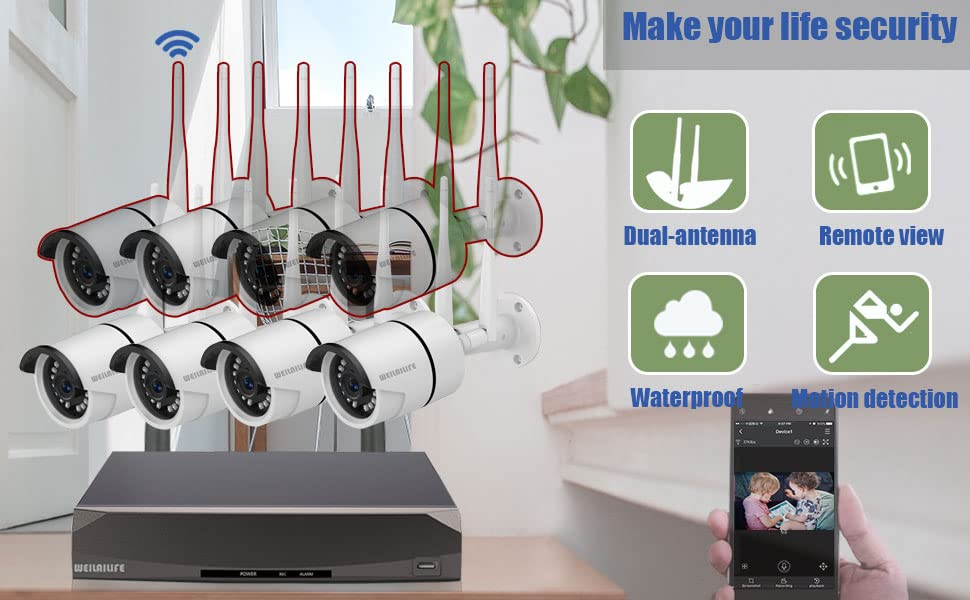 4 channel wireless security camera system