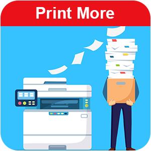 print more, toner, cartridges, ink