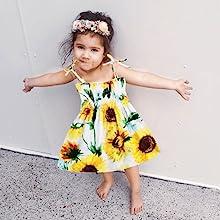 baby girl white dress yellow dress