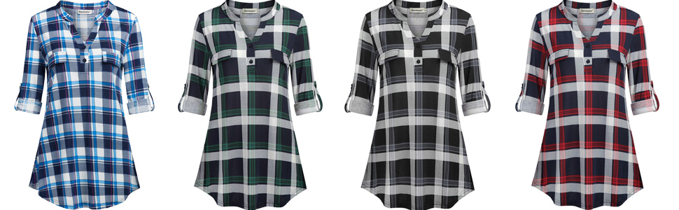 checkered shirts for women