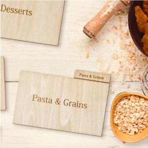 recipe card divider organizer bake break fry stir cook kitchen holiday mom grandma grandad