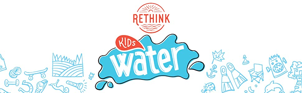 rethink kids water fruit punch flavored zero sugar calorie sodium recyclable apple berry orange