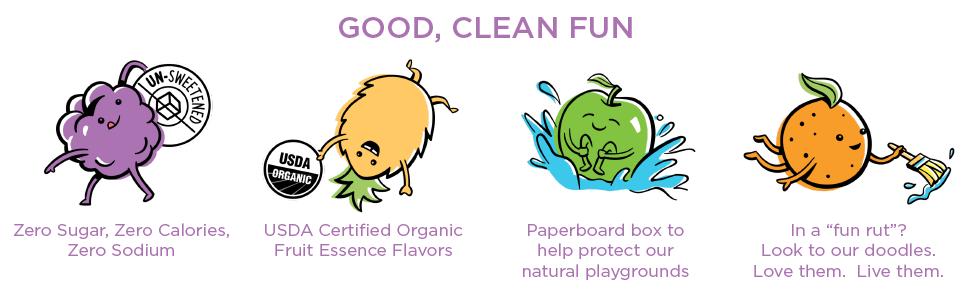 RETHINK kids water, zero calories, zero sugar, zero sodium, unsweetened, USDA organic, healthy