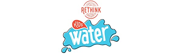 rethink kids water flavored zero sugar calorie sodium recyclable fruit punch orange apple berry