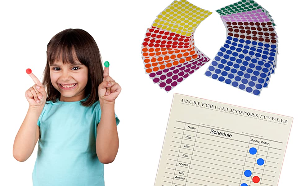 Colored dot sticker for kids fun and games
