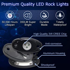 rgb led rock light bluetooth