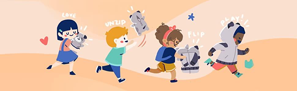 love unzip flip play