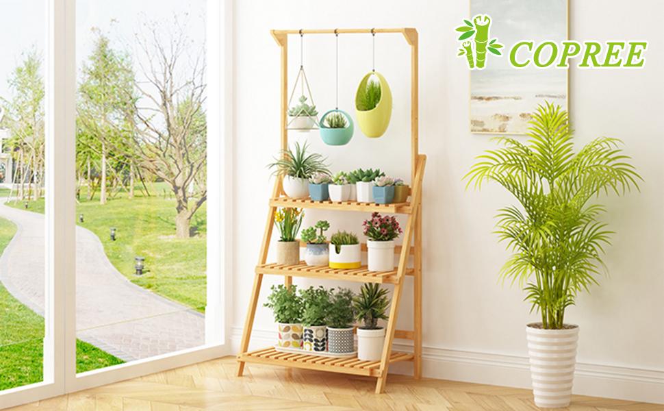 3 tiers hanging plant shelf