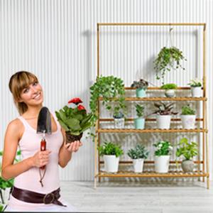 3 tiers hanging flower rack
