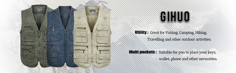 Outdoor Multi-pockets Vest