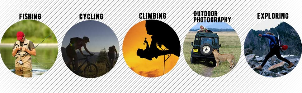 Suitable for various occasions: Fishing, Cycling, Climing, Photography...