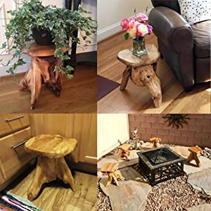 Highly Rated Customer Review Tree Stump Stool