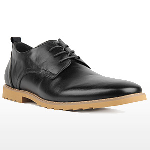 Men's Soft Leather Casual Business Oxford Dress Shoes Black