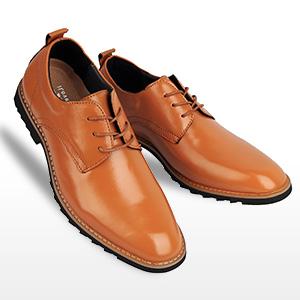 iLoveSIA Men's Oxford Fashion Leather Shoes Brown