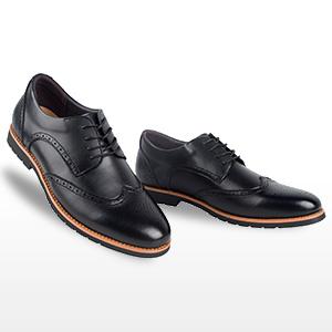 iLoveSIA Men's Leather Oxford Brogue Wingtip Dress Shoes Light Brown