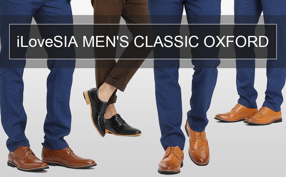 iLoveSIA Men's Leather Oxford