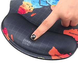 Mouse Pad Pads for Computers Memory Foam Nonslip with Wrist Rest