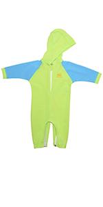 nozone sun protective hooded baby swimsuit kailua