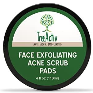 TreeActiv Exfoliating Acne Scrub Pads