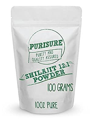 Purisure Shilajit Powder 100g 100% Powder