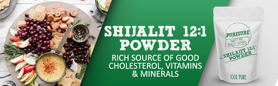 Purisure shilajit 12:1 Powder rich source of good cholesterol vitamins minerals 100% Pure