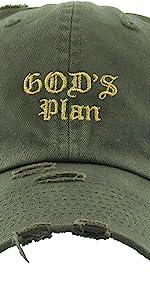 GOD'S PLAN EMBROIDERY VINTAGE DAD HAT