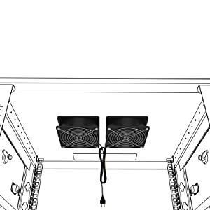 networck rack cabinet fans mount