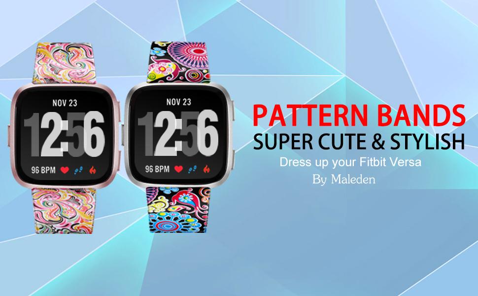 Maledan Pattern Bands for Fitbit Versa