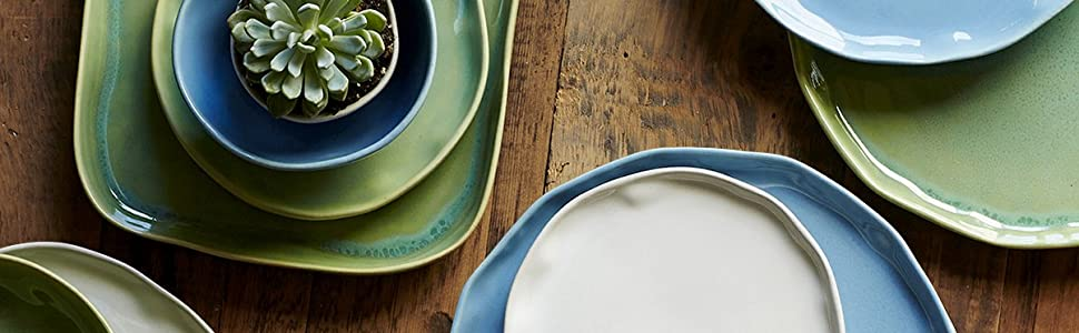 Forma vietri stoneware ceramic dishes with other colors plates bowls white blue green