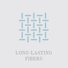 Long lasting ringspun fibers soft towels